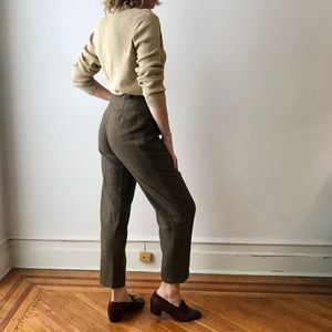vintage wool high waisted trouser ankle pants